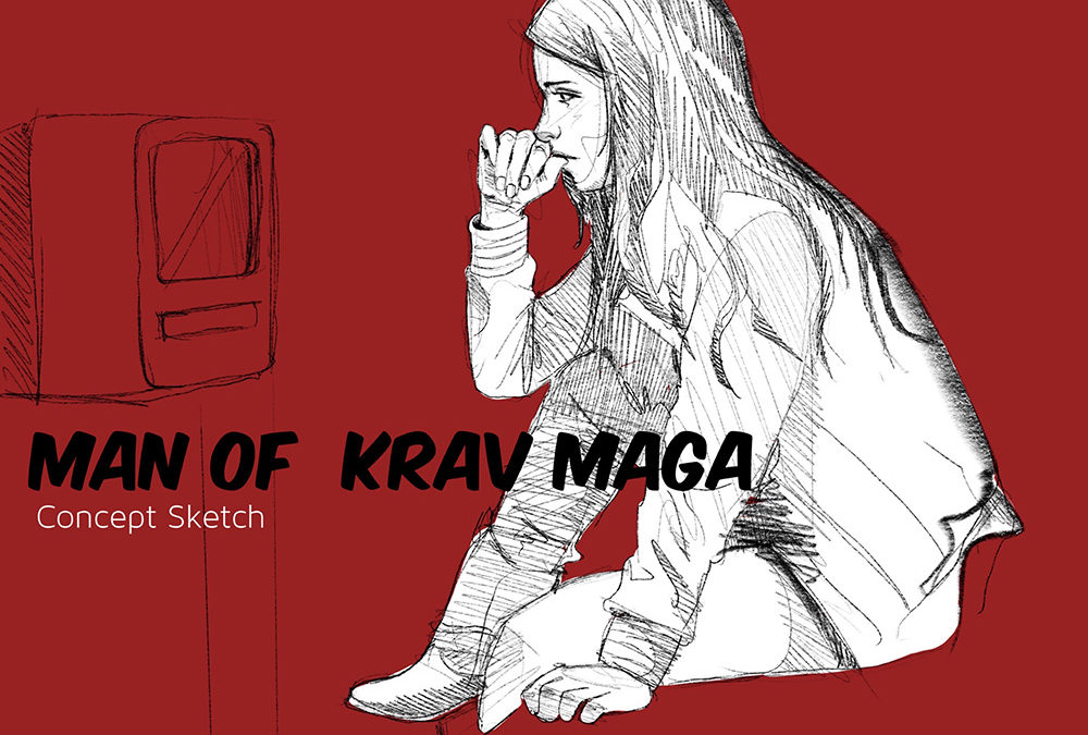 Concept drawing for the short film Man of Krav Maga